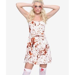 Hot Topic Blood Spatter A-Line Tank Dress